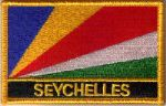 Seychelles Embroidered Flag Patch, style 09.
